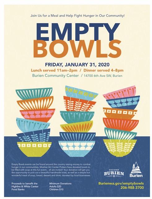 Empty Bowls Burien WA