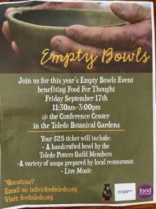 Toledo Empty Bowls
