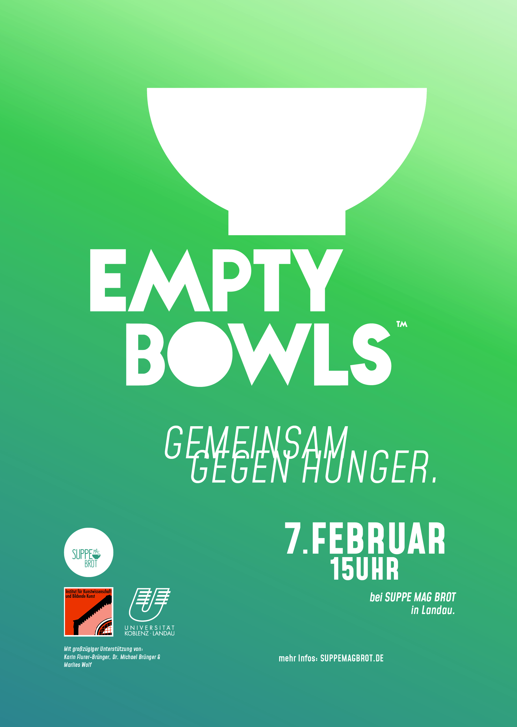 Empty Bowls – Art Department, University of Landau, Palatina, Germany
