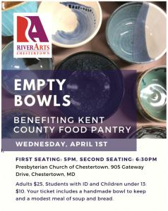 Chestertown RiverArts Clay Studio's 10th Annual Empty Bowls