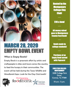 Montgomery College Clay Club Empty Bowls